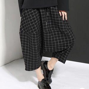 Pants - Unisex Plaid Harem Streetwear Style Pants